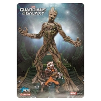 Guardians of the Galaxy Groot with Rocket Racoon Action Hero Vignette Model Kit